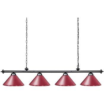 Wellmet Lámpara de billar con 4 luces, billar de 1,8 m para mesa ...