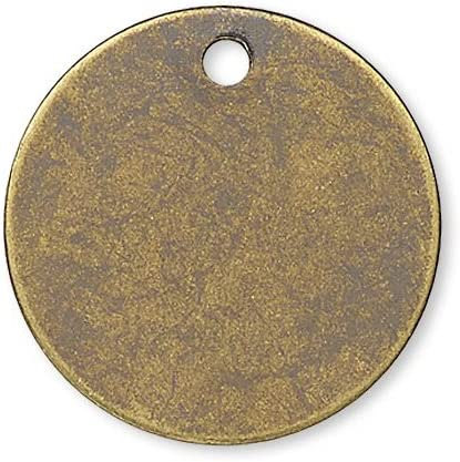 23mm RAW BRASS stamping blanks coin pendant RBC-R2 1 hole For plating 20 pcs