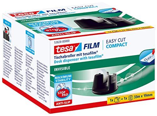 Dispensador de sobremesa tesafilm con 1 rollo de cinta adhesiva