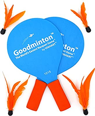 Goodminton | The World's Easiest Racket Game | an Indoor Outdoor Year-Round Fun Racquet Game for Boys, Girls, and People of All Ages