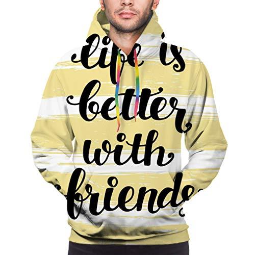 Realistic 3D Print Pullover Hooded Sweatshirt Hoodies Big Pockets Life Better FR