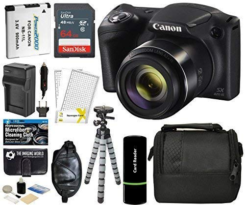 Canon PowerShot SX420 IS Digital Camera (Black) with 20MP, 42x Optical Zoom, 720p HD Video &...