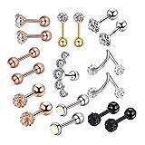 Harilla Venta Al Por Mayor Lot Unisex Lip Piercing Body Jewelry Barbell Rings Anillos De Lengua - F, tal como se describe