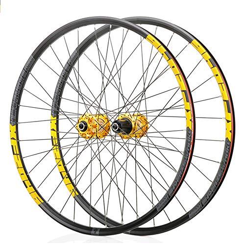 BAIDEFENG Vorder- Und Hinterräder, MTB Mountain Wheelset Doppelwandige Leichtmetallfelgenreifen Für 8-11S 27,5