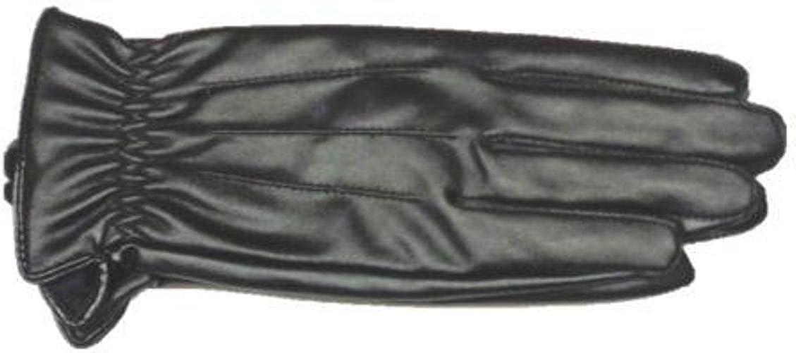 Genuine Black Leather Women's Winter Gloves Size Medium/Large