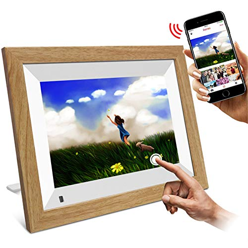 """MXXQQ 10.1\"""" Digitaler Bilderrahmen, HD IPS-Screen-Anzeigen-Digital-Bilderrahmen, Wireless-LAN Share Foto & Video Sofort Über App/Facebook/Twitter/E-Mail, Auto-Rotate"""