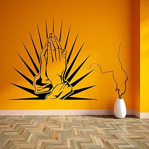 Tianpengyuanshuai Gebed Handen Gebed Aanbidding Slaapkamer Vinyl Wall Art Sticker Woonkamer Muurdecoratie Thuis Muur Verwijderbare muurschildering Nieuwe