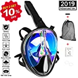 VORRINC Schnorchelmaske Vollgesichtsmaske Tauchmaske mit 180° und Sichtfeld Tauchmaske Anti-Fog und...