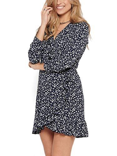 ONLY Female Kleid Wickel Volant 40Night Sky