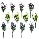 Yushu Flores artificiales de lavanda de 12 hebras para decoración de bodas, para centros de mesa, hogar, cocina, jardín, granja