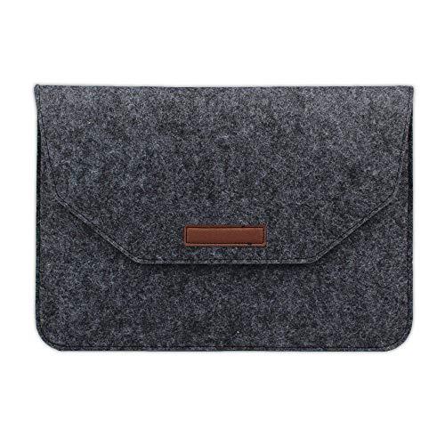 Practical 13 15 16 Notebook Laptop Bag Sleeve Briefcase For MacbookAir Pro 11 13.3 15.4 Women Men Handbag Carrying Case (Color : Dark gray, Size : 13-13.3 inch)