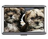 Portadocumenti e portasigarette, Baby Animal Animal Puppy Dog Porta carte in acciaio inox (taglia King)