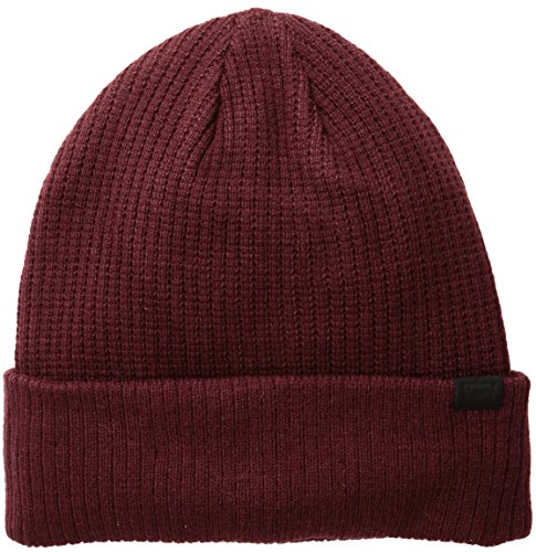 Levi's Classic Warm Winter Knit Beanie Hat Cap Fleece Lined for Men and Women, Oxblood, One Size