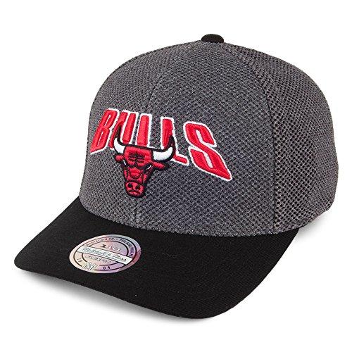 Mitchell & Ness Gorra Flashback 110 Chicago Bulls Gris-Negro - Ajustable