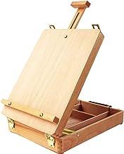 Adjustable Wood Table Sketchbox Easel, Premium Beechwood, Portable Wooden Artist Desktop Storage Case, Comfortable and Por...