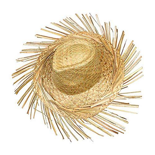 Schramm® Cappello di Paglia Hawaii con Frange Cappello Bastone Cappelli di Paglia Hawaii Party