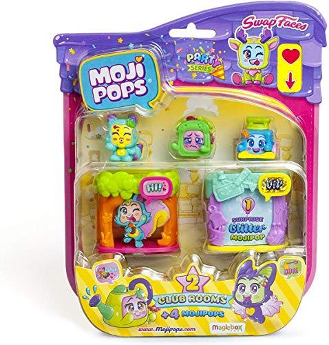 MOJIPOPS- Blister 4 Figuras coleccionables, Multicolor (Magic Box PMPPB416IN00)