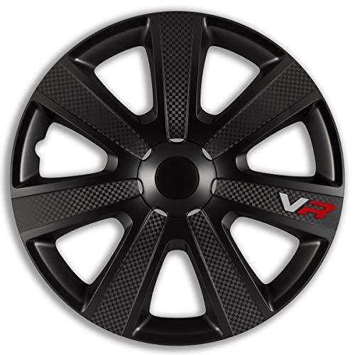 4x Radkappen 15'' Zoll VR PRO Carbon Black Schwarz Radzierblenden