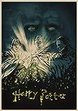 qiaolezi Harry Wanted Order No deseable No.1 Cartel de Kraft Edición Limitada Harry Movie Art Posters Sirius Black Poster A205 50 × 70CM Sin Marco