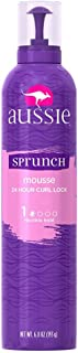 2 Pack of Aussie Scrunch(SPRUNCH) Hair Mousse + Leave-In Conditioner, (stated on the back)24 HOUR CURL LOCK 6.8 oz