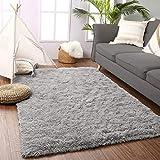 Beglad 6 ft x 9 ft Soft Fluffy Area Rug Modern Shaggy Bedroom Rugs for Kids Room Extra Comfy Nursery Rug Floor Carpets Boys Girls Fuzzy Shag Fur Home Decor Rug, Grey