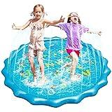 Fostoy Splash Pad, Buchstabenmuster Wellenmuster Sprinkler Wasser-Spielmatte Splash Play Matte,...