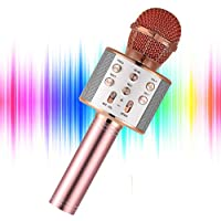 Yohia Portable Handheld Karaoke Microphone (Rose Gold)