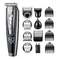 Hatteker Beard Cutter Beard Trimmer Hair Cut maszyny Męskie Trymer do włosów Trymer do włosów Nos Trymer Bodygroomer Wodoodporny 5 W 1