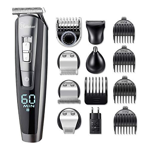Hatteker Bartschneider Bart Trimmer Haarschneidemaschine Herren Haartrimmer Haarschneider Nasentrimmer Bodygroomer Wasserdichter 5 In 1