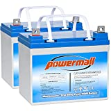 Powermall 12V 35AH Wheechair Battery Replace ML35-12 EXP12330 UB12350 Pride Mobility Jazzy Select 6 1103 GT Power Chair Scooter, 2 Pack