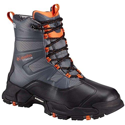 Columbia Men's Canuk Titanium Omni-Heat Outdry Boots, Graphite \ Heatwave,7 M US