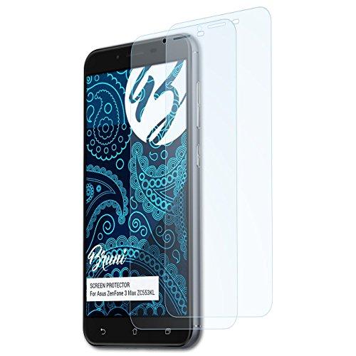 Bruni Schutzfolie kompatibel mit Asus ZenFone 3 Max ZC553KL Folie, glasklare Bildschirmschutzfolie (2X)
