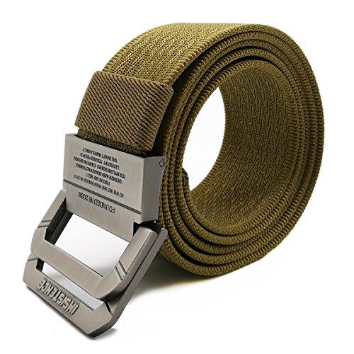 WYuZe Military Web Belt Men's Adjustable Metal Buckle Nylon Tactical Duty Belt