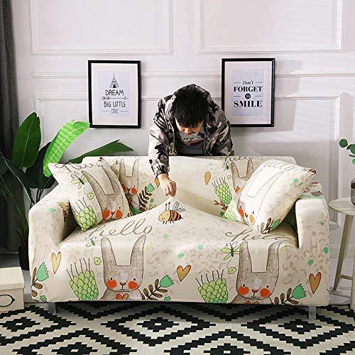 Funda de sofá de Terciopelo,Funda de sofá elástica, fibra de poliéster elástica spandex 1/2/3/4 sofá de asiento, funda de sofá cubierta de protección para muebles de sala de estar-Color 14_90-140cm