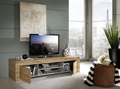TV Schrank Milano 2-türig mit 1 Holzboden   In Honigfarben   Aus Spanplatte   von LC spa , 190 x 45 x 51 cm, Eiche Cleaf Honig Nachbildung