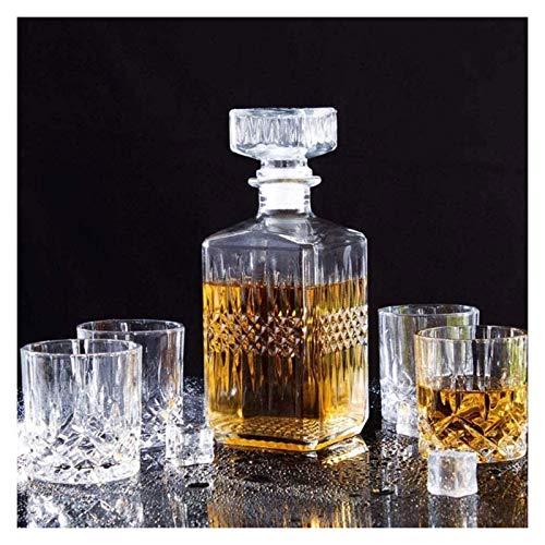 HYJMJJ Jarra de Whisky Whisky o Botella de champán, Conjunto de Whisky,...