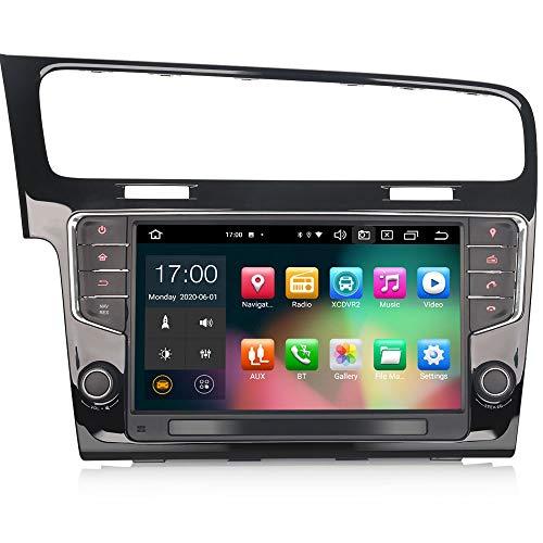 ERISIN 9 pollici Android 10.0 Autoradio per VW GOLF VII / 7 Supporto GPS Sat Nav Carplay Android Auto DSP Bluetooth Wifi DAB + TPMS 8-Core 4 GB RAM + 64 GB ROM
