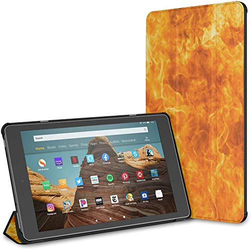 Case For Abstract Blaze Fire Flame Texture Fire Hd 10 Tablet (9th/7th Generation, 2019/2017 Release) Fire Hd 10 Cover Case Fire Hd Case 10 Auto Wake/sleep For 10.1 Inch Tablet