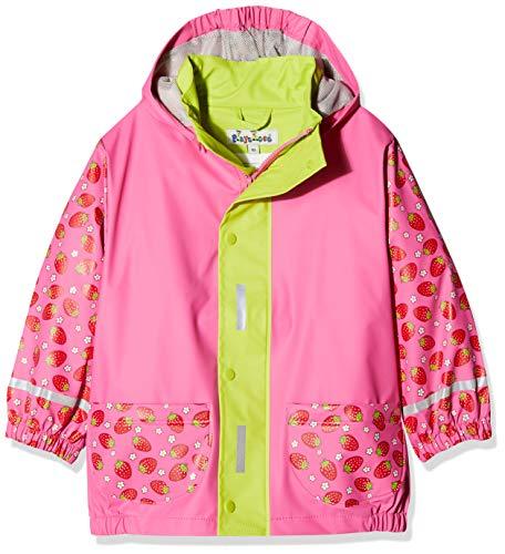 Playshoes M dchen Regen-mantel Erdbeere Regenjacke, Pink (Pink 18), 104 EU
