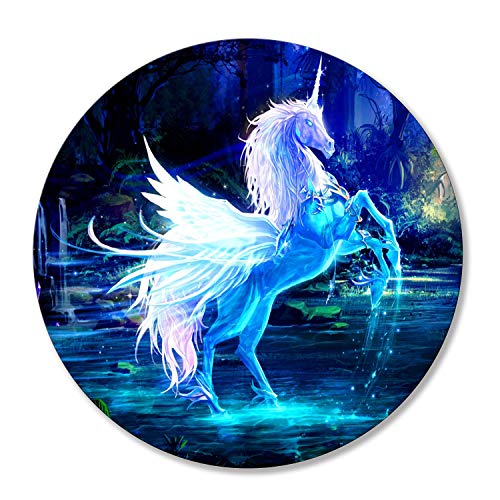 Shalysong Custom Round Unicorn Computer Mouse pad Personalized Designs Non-Slip Rubber Mouse Pads for Computer Laptop
