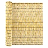 ZNCMRR Natural Reed Screen Curtain, Eco-Friendly Reed Fence16.4ftX3.94ft Fencing Decorative Roll Up Window Blind Reed Fencing for Garden Indoor Balcony Window