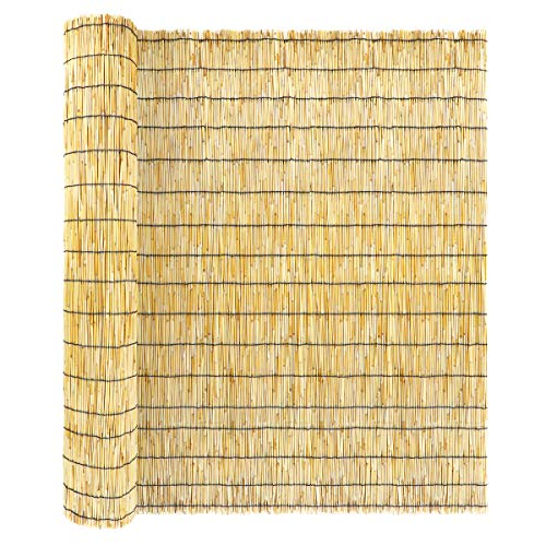 ZNCMRR Natural Reed Screen Curtain, Eco-Friendly...