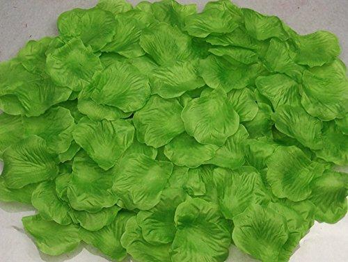 WeiMay Künstliche Rosenblätter aus Seide, 1000 Stück grün