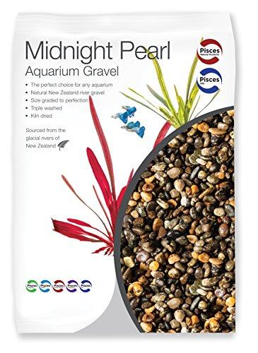 Pisces 11 lb Midnight Pearl Aquarium Gravel, Black Brown Grey, Medium