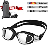 Swimming Goggles for Men/Women, Polarized anti-glare Anti-Fog UV Protection Mirrored Wide Vision Adult Swim Goggles, Boys/Girls/Junior/Teenagers/youth Swim Googles, Swimming Glasses and Gear