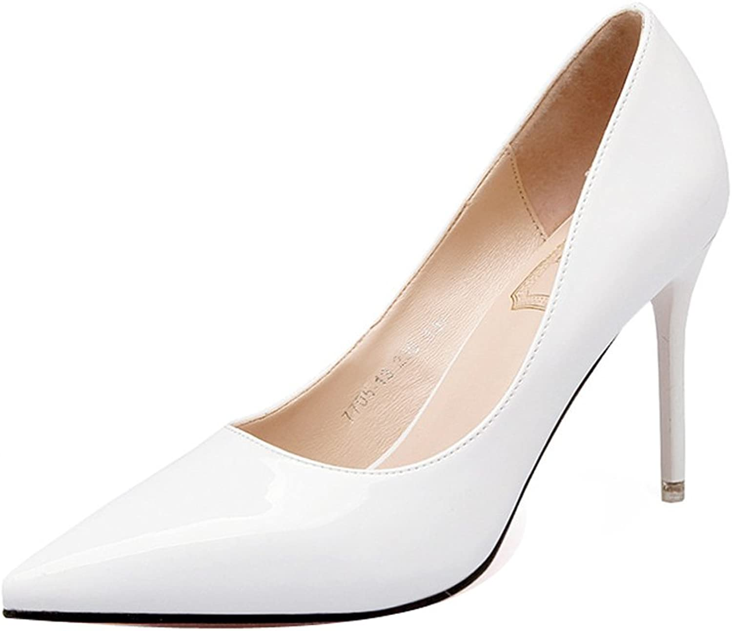Ladola Womens Professional Pointed-Toe Spikes Stilettos Urethane Pumps shoes