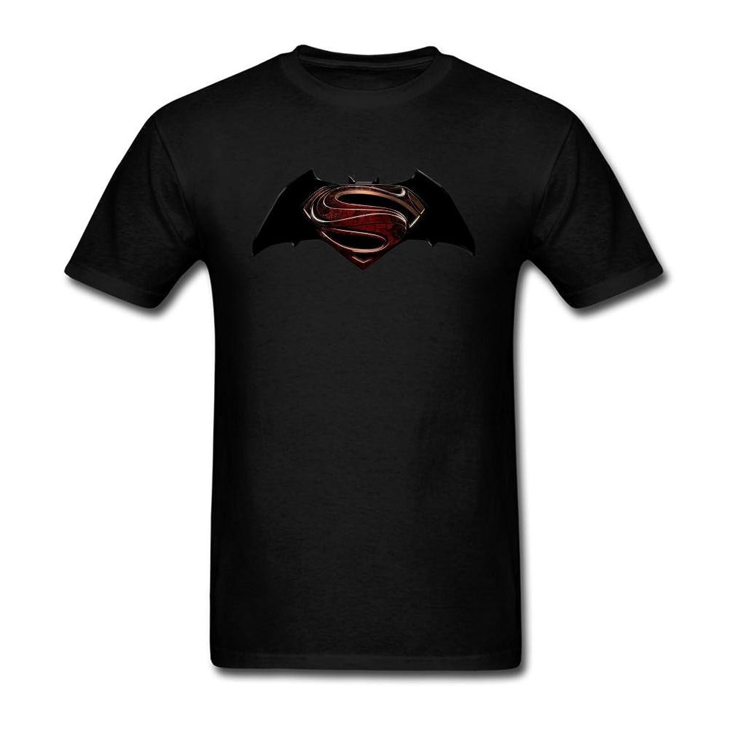 Batman V Superman Logo Men's Designer Short Sleeve Cotton T-shirt Black S