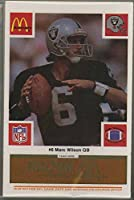 Los Angeles Oakland Raiders - McDonald's NFL Play & Win 1986 Football Cards - Gold Tab Team Set of 24 Cards - tabs still attached and unscratched