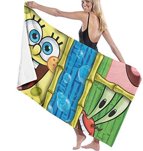 YeeATZ Toallas multiusos, de The First Season de Bob Esponja, de secado rápido, muy absorbentes, para la playa, para la piscina, 31 x 51 pulgadas, para mujeres y hombres