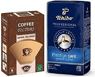 Professional Prestige Cafe Filtre Kahve 500gr&Coffee Filters Filtre Kahve Kağıdı No:4 80'li Paket